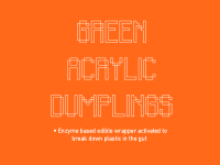 micro_micro: 2067 GREEN ACRYLIC DUMPLINGS